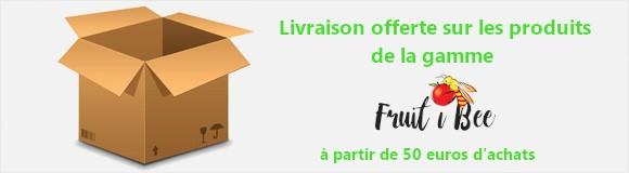 Port gratuit (Mondial relay) sur la gamme Fruit i Bee à partir de 50 euros d'achats